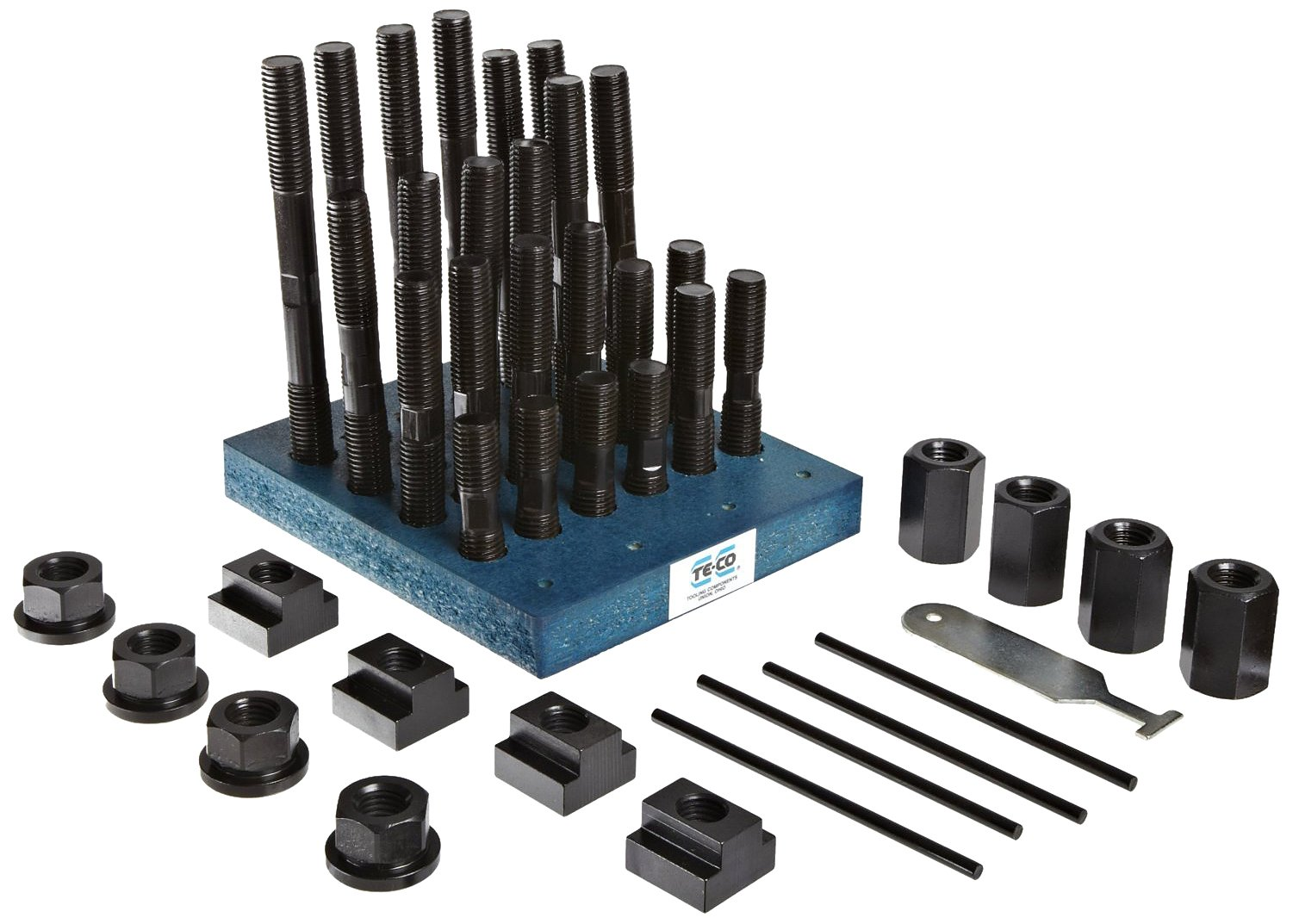 Te-Co 20603 38 Piece T-Nut and Stud Kit, 3/8''-16 Stud x 1/2'' Table T-Slot
