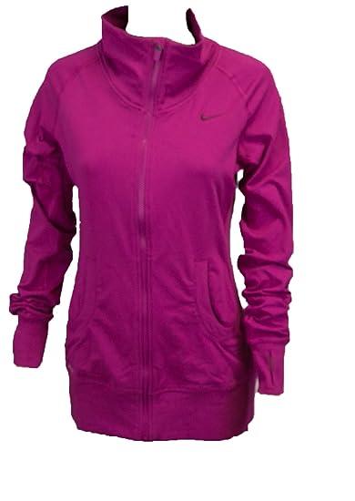 492831c556e3 Amazon.com  Nike Womens Dri Fit Long Sleeved Running Jacket Magenta Small  Magenta  Sports   Outdoors