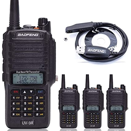 Amazon.com: 4pcs BaoFeng UV-9R Dual Band Walkie Talkie ...