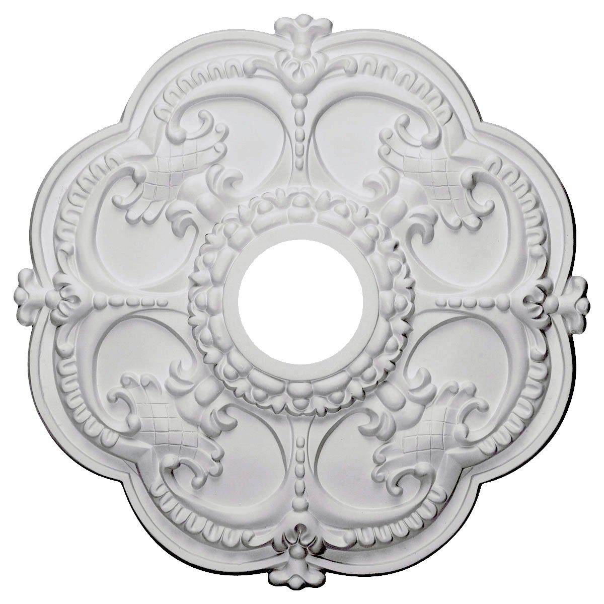 Ekena Millwork CM17RO 18 Inch OD x 3 1 2 Inch ID x 1 1 2 Inch Rotherham Ceiling Medallion