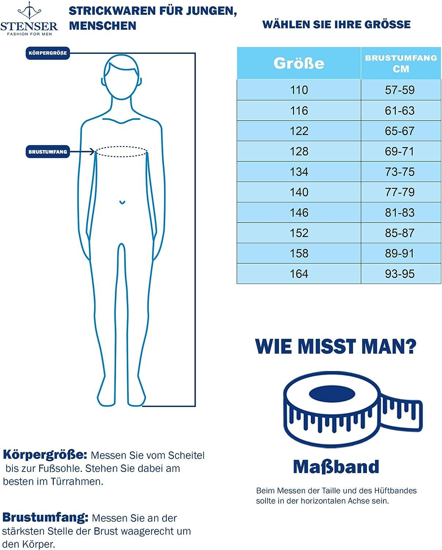 Schwarz STENSER Jungen Strickjacke Kt01-3