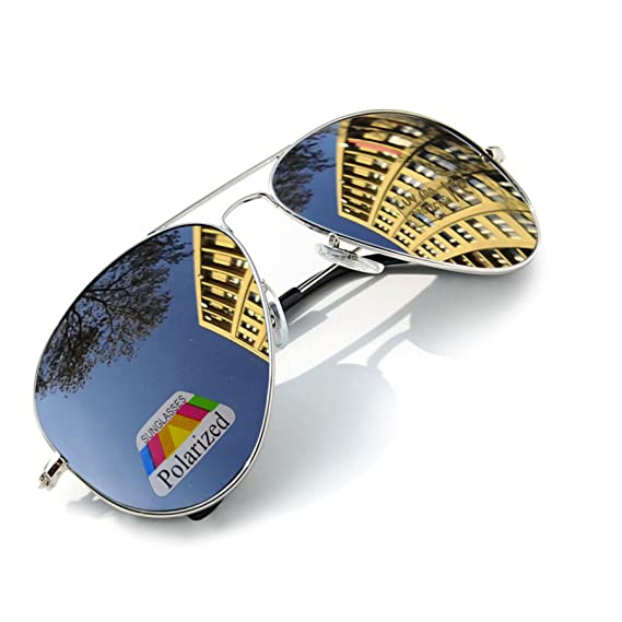 MFAZ Morefaz Ltd Hombre Mujer Polarizado Gafas De Sol Estilo Piloto Silver Black (Silver): Amazon.es: Ropa y accesorios