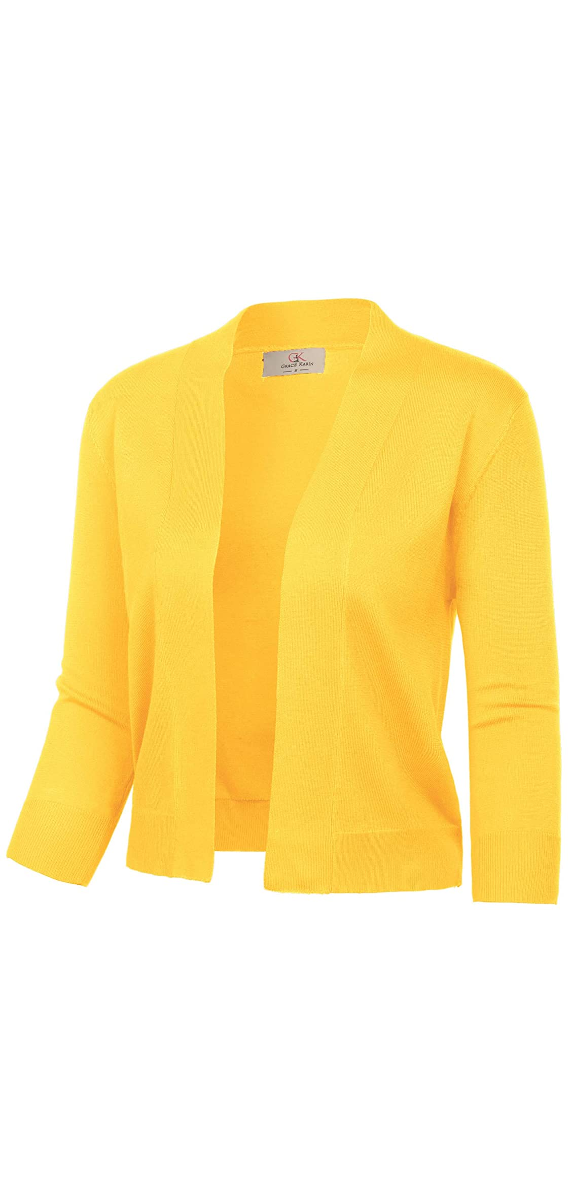 Women's / Sleeve Cardigan Knit Sweaters Cropped