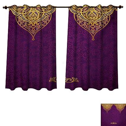 Amazon Rupperttextile Purple Blackout Curtains Panels For