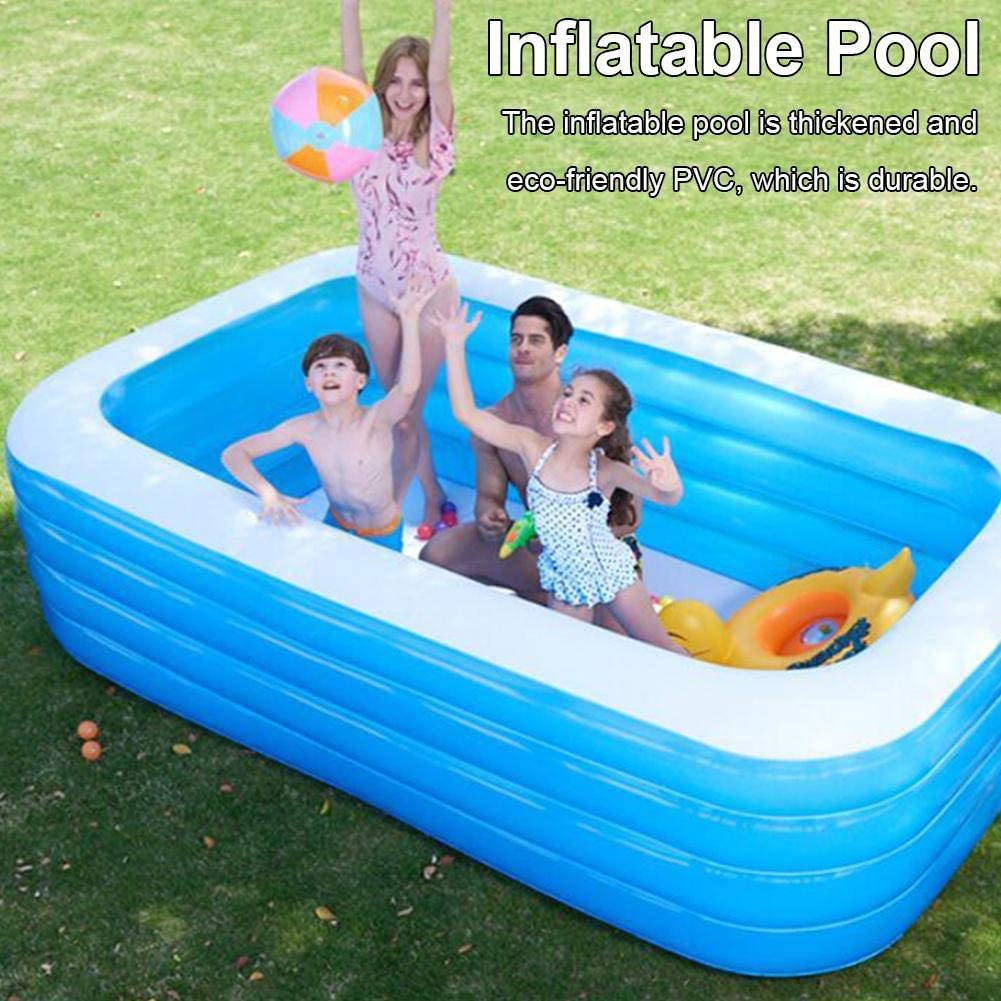 5 90 125 Outdoor Blue Wo Nice Swimming Pool Oversize 1 6 Peoples Pvc Thickened Inflatable Kiddie Pools Interaction Summer Water Party Lounge Pool For Garden Backyard Inflatable Pools Garden Outdoors