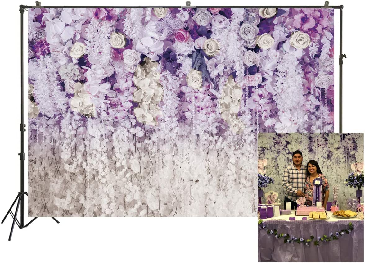 8x12 FT Purple Vinyl Photography Backdrop,Persian Ornamental Lace Pattern Traditonal Authentic Arabic Folkloric Boho Design Background for Party Home Decor Outdoorsy Theme Shoot Props