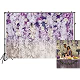2.2x1.5m Photography Backdrops Purple Flowers Curtain Wedding Backdrop Bridal Shower Spiral Decorations Floral 3D…