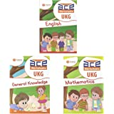 UKG Kids ACE All-in-One Worksheets 260 pages (KG 2) and Montessori (4-6 yrs) (English, Mathematics, General Knowledge / EVS & Fun Colouring Combo) loose leaf workbook from 3H Learning