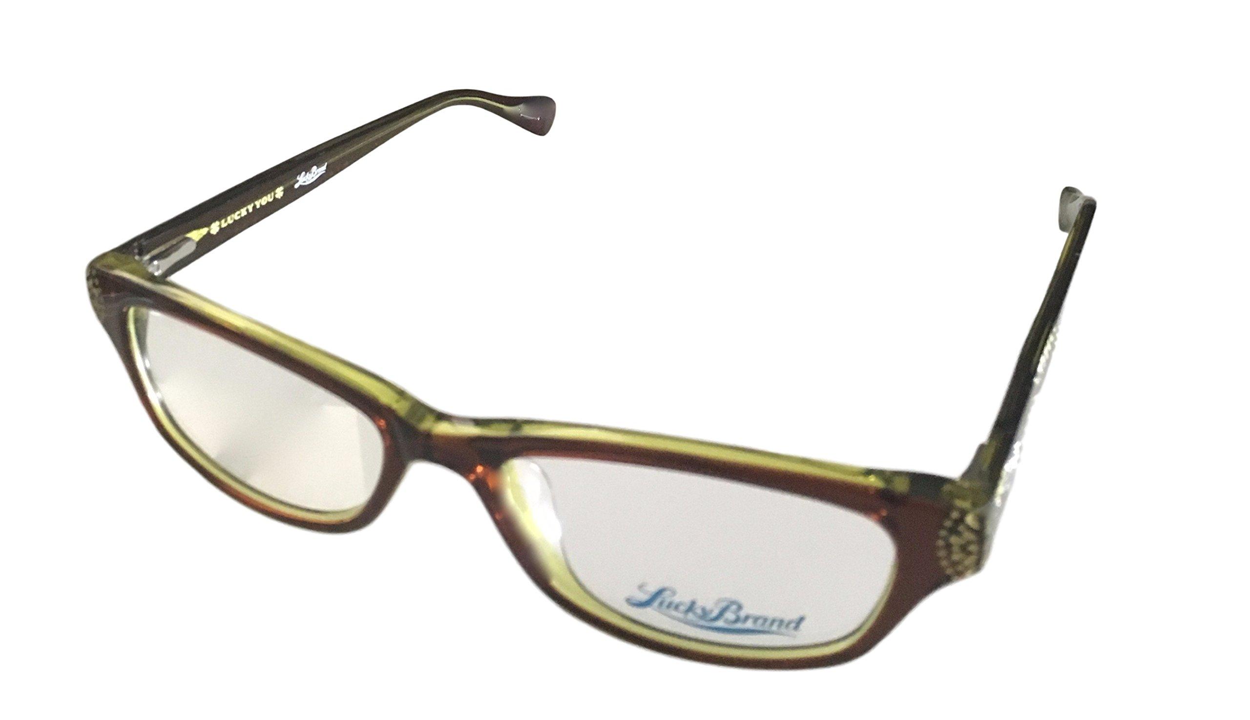 LUCKY BRAND Eyeglasses SWIRL Brown 53MM