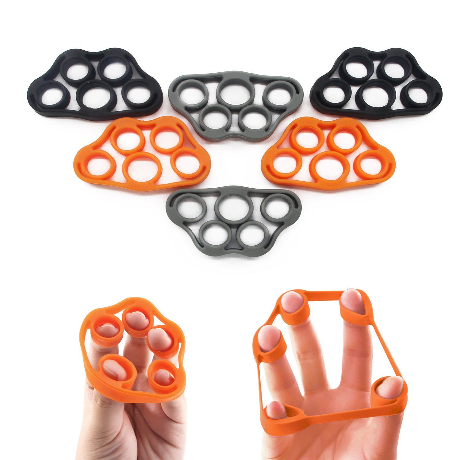 PROCIRCLE Finger Stretcher Hand Resistance Band, 6 Pieces (Assorted Colors)