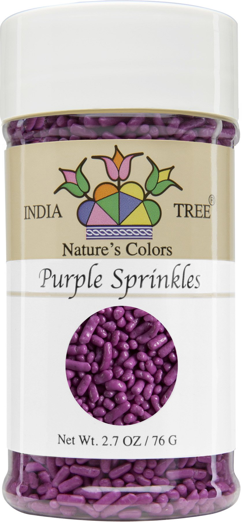 India Tree Nature's Colors Purple Sprinkles, 2.7 Ounce