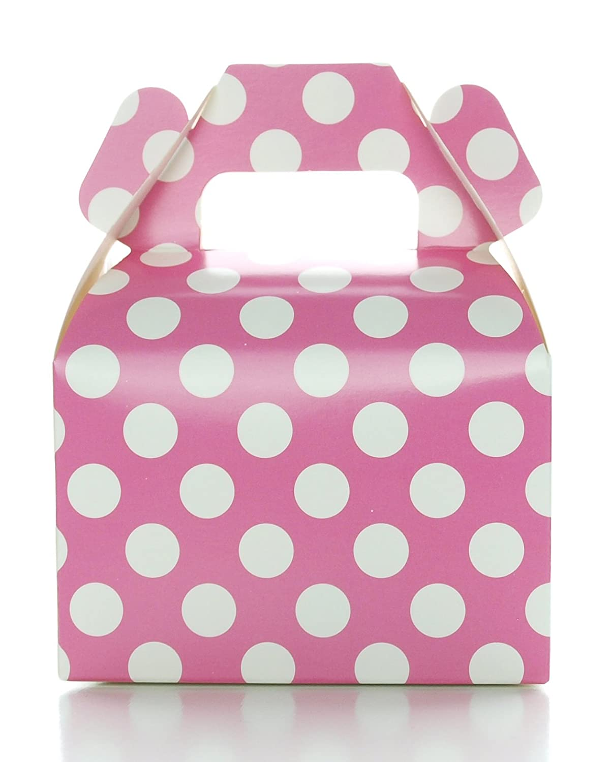 Amazon.com: Hot Pink Favor Boxes, Polka Dot Candy Box (12 Pack ...