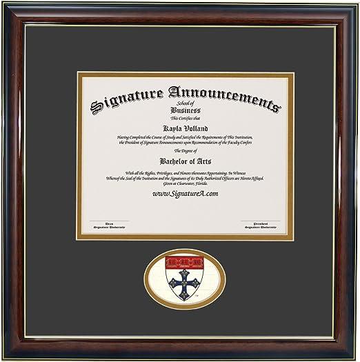 Signature Announcements Harvard-University-T.H-Chan-School-of-Public-Health Sculpted Foil Seal /& Name Graduation Diploma Frame 16 x 20 Gold Accent Gloss Mahogany