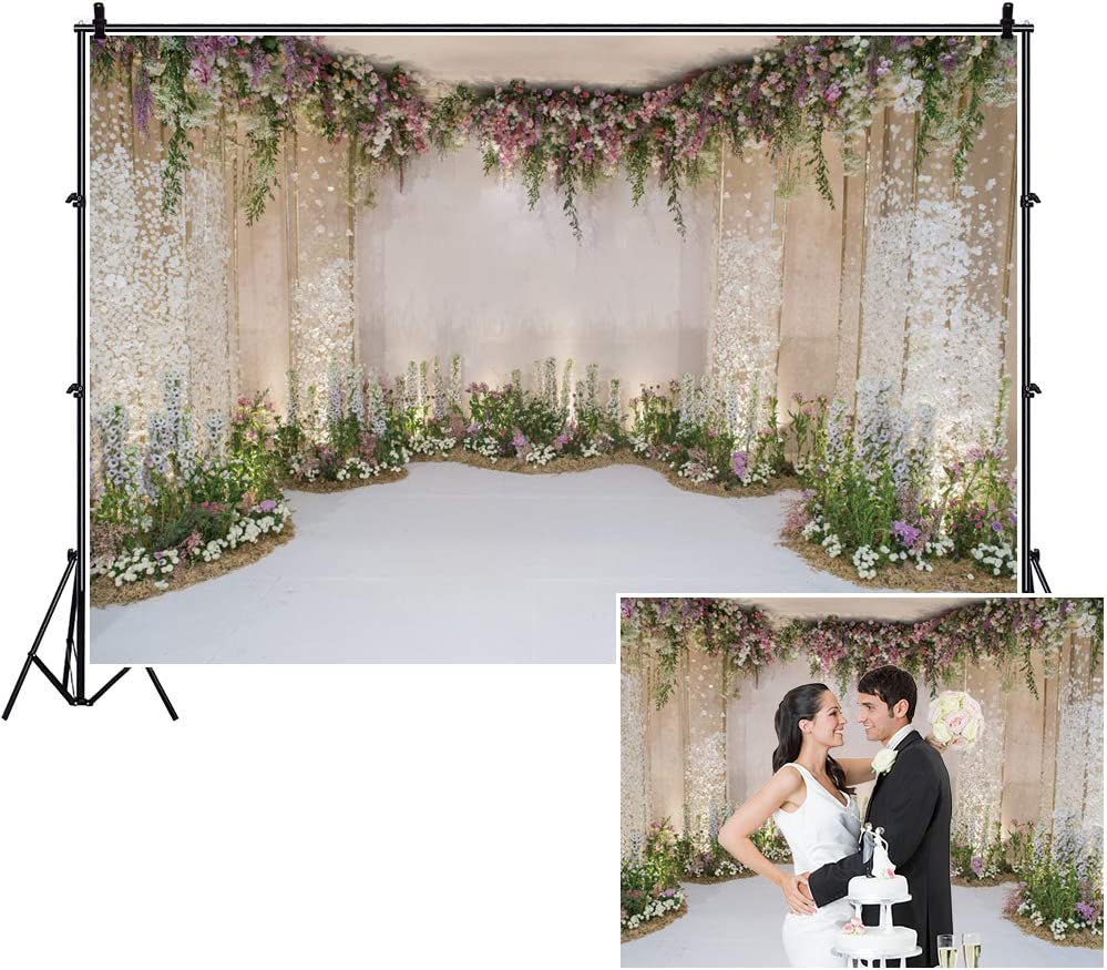 6x6FT Vinyl Backdrop Photographer,Winery,Floral Wine Bottles Glasses Background for Baby Shower Bridal Wedding Studio Photography Pictures
