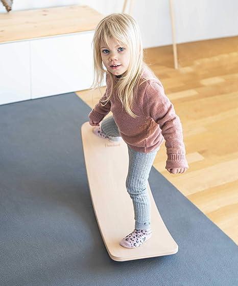Flowers Balance Board Balancierbrett Aus Holz Kinder Wippe Gleichgewichtsboard Wackelbrett f/ür Kinder und Erwachsene Wackelbrett f/ür Kindergewicht Board