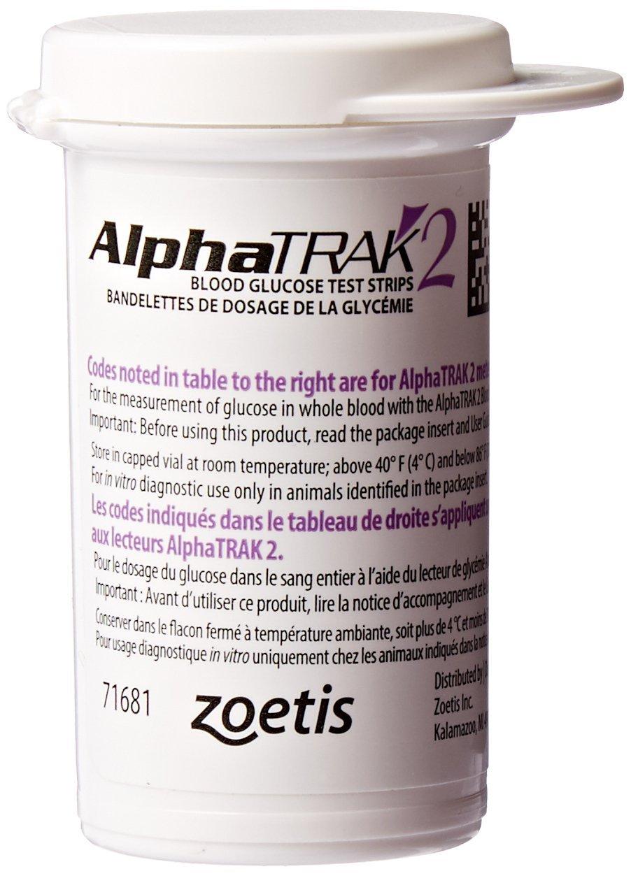 AlphaTRAK 2 Blood Glucose Test Strips, 50 Count by Zoetis