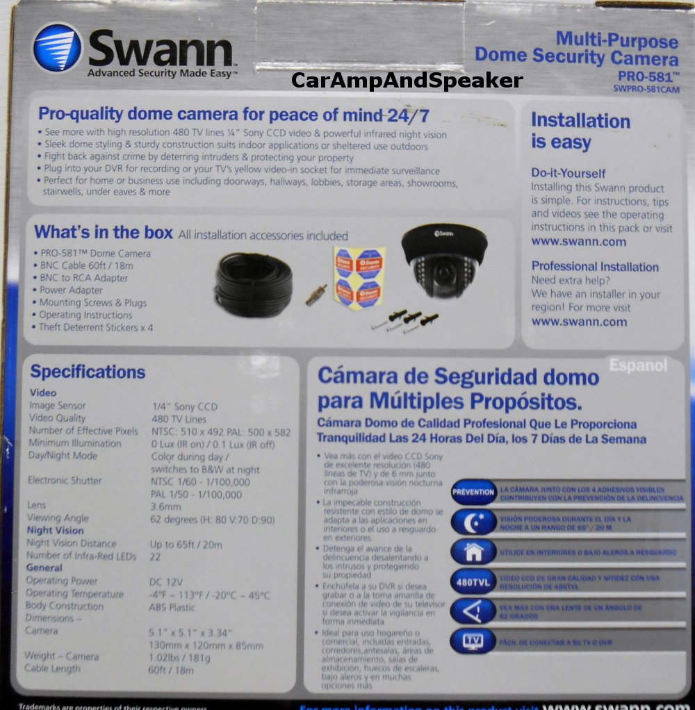 Amazon.com : Swann Communications PRO-581 Multi-Purpose Day/Night Dome Camera : Surveillance Recorders : Camera & Photo