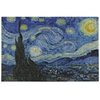 ZOEO Van Gogh Starry Night Art Painting Puzzle for Adults 500 Piece Wooden Jigsaw Puzzles Table Game Kids Family