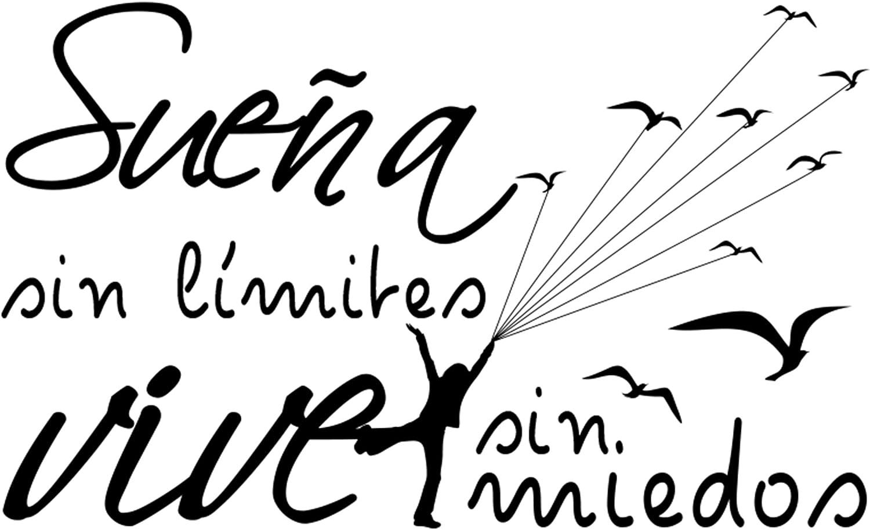 Pegatinas decorativas pared Decoraci/ón casa Docliick DC-19150 Docliick/® Vinilos de pared decorativo con frase decorativa motivadoraSUE/ÑA SIN MIEDOS VIVE SIN