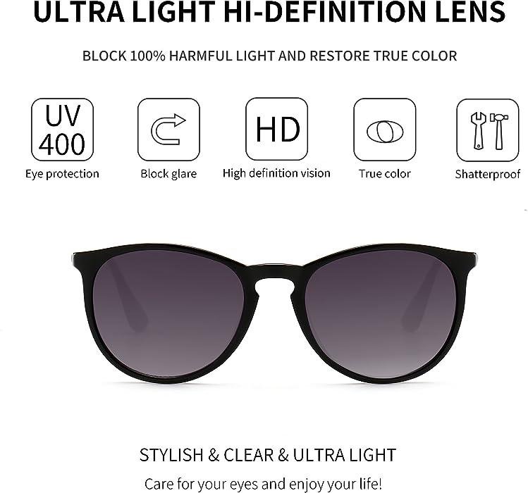 d73393fb79b SUNGAIT Vintage Round Sunglasses for Women Classic Retro Designer Style