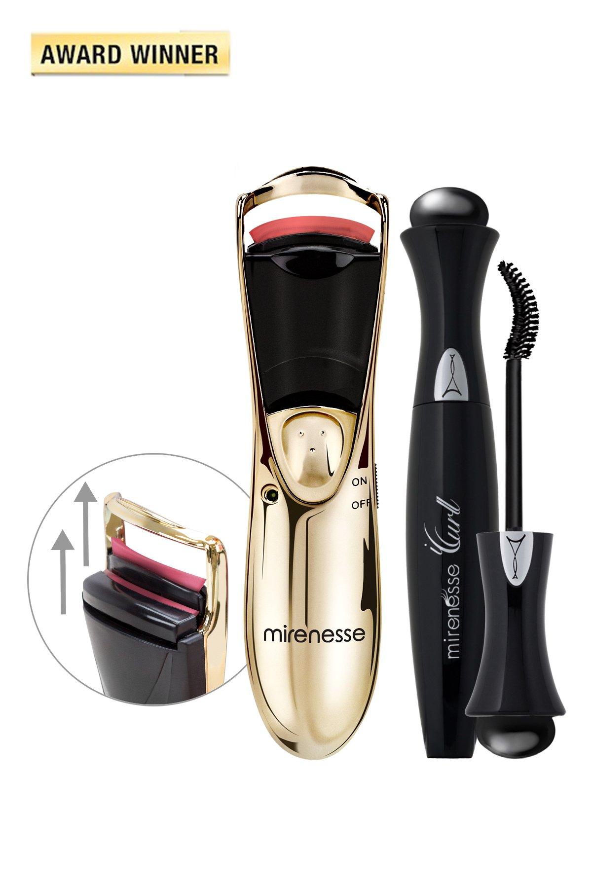 Winner - Best Curler, iCurl Twin Heated Lash Curler+ ICurl Secret Weapon 24hr Mascara- Mirenesse Cosmetics