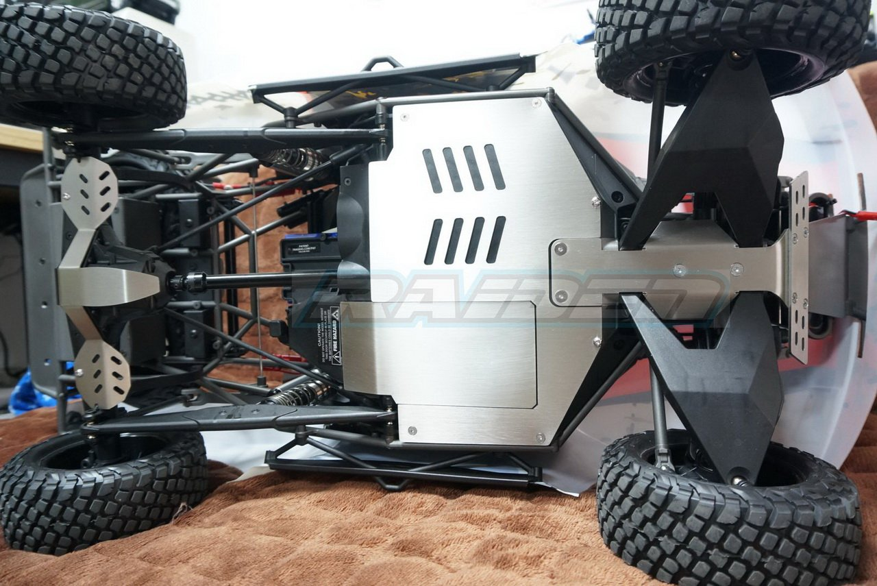 Stainless Steel Skid Plate Axle Chassis Protect Armor for Traxxas UDR Unlimited Desert Racer Raidenracing