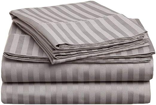 Tula Linen - Juego de sábanas de algodón Egipcio, 1200 Hilos, 4 ...