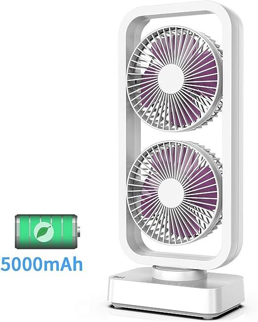 YSCCSY Ventilador de Torre oscilante Sin Cable Recargable ...
