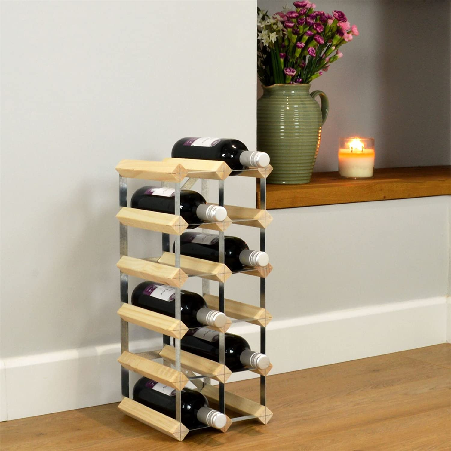 Harbour Housewares 15 Bottle Wine Rack  Fully Assembled