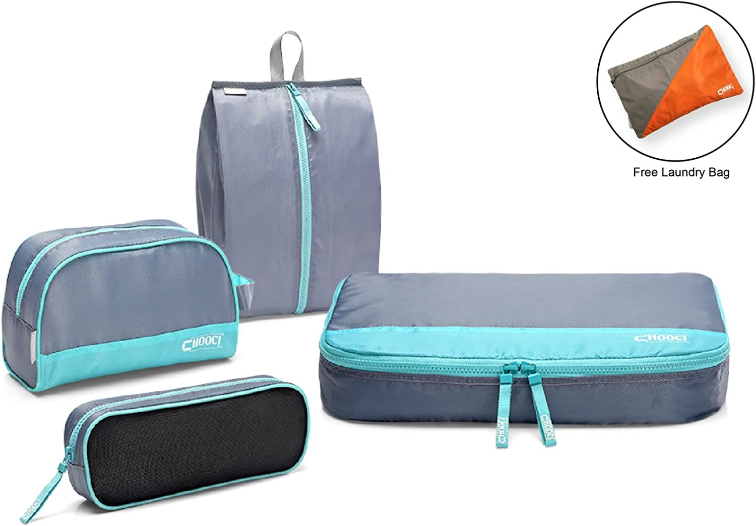 THE BEST Travel Organizer 4 Set Packing Cubes for Travel CHOOCI