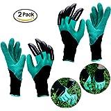 DELIPOP guanti da giardinaggio con artigli per la scavatura del pacchetto di piantagione di 2 coppie (artiglio destro + artiglio sinistro)