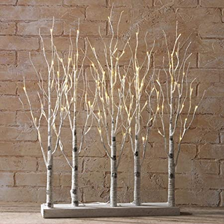 Raz Imports 30 Inch Lighted Birch Grove Tree
