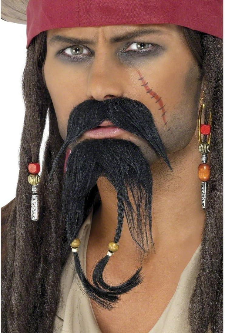 Set Barbiche Moustache pour Déguisement Pirate des Caraibes,Carnaval,Déguisement