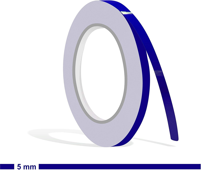 Siviwonder Zierstreifen Royalblau In 5 Mm Breite Und 10 M Länge Folie Aufkleber Für Auto Boot Jetski Modellbau Klebeband Dekorstreifen Königsblau Royal Blau Auto