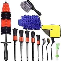 13PCS Car Wheel Brush Set Car Wheel Cleaning Brush Kit Including 5 Detailing Brushes, 3 Steel Wire Brushes, 1 Wheel Rim…