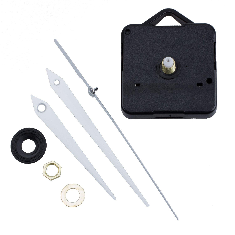 SODIAL Quartz Clock Movement Mechanism DIY Repair Parts + White Hands