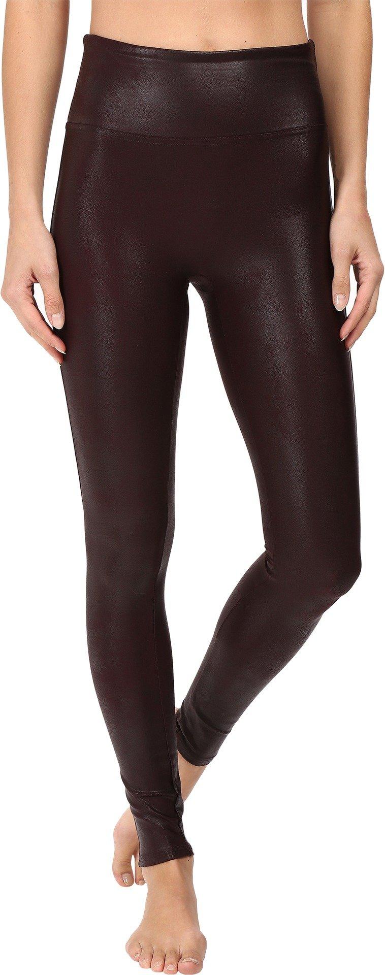 SPANX Women's Ready-to-Wow Faux Leather Leggings, Wine, Medium