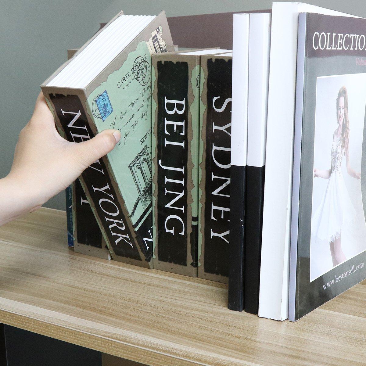 Diversion Book Safe with Combination Lock, Decaller Safe Secret Hidden Metal Lock Box, 9 1/2'' x 6'' x 1 1/3'', New York by Decaller (Image #8)