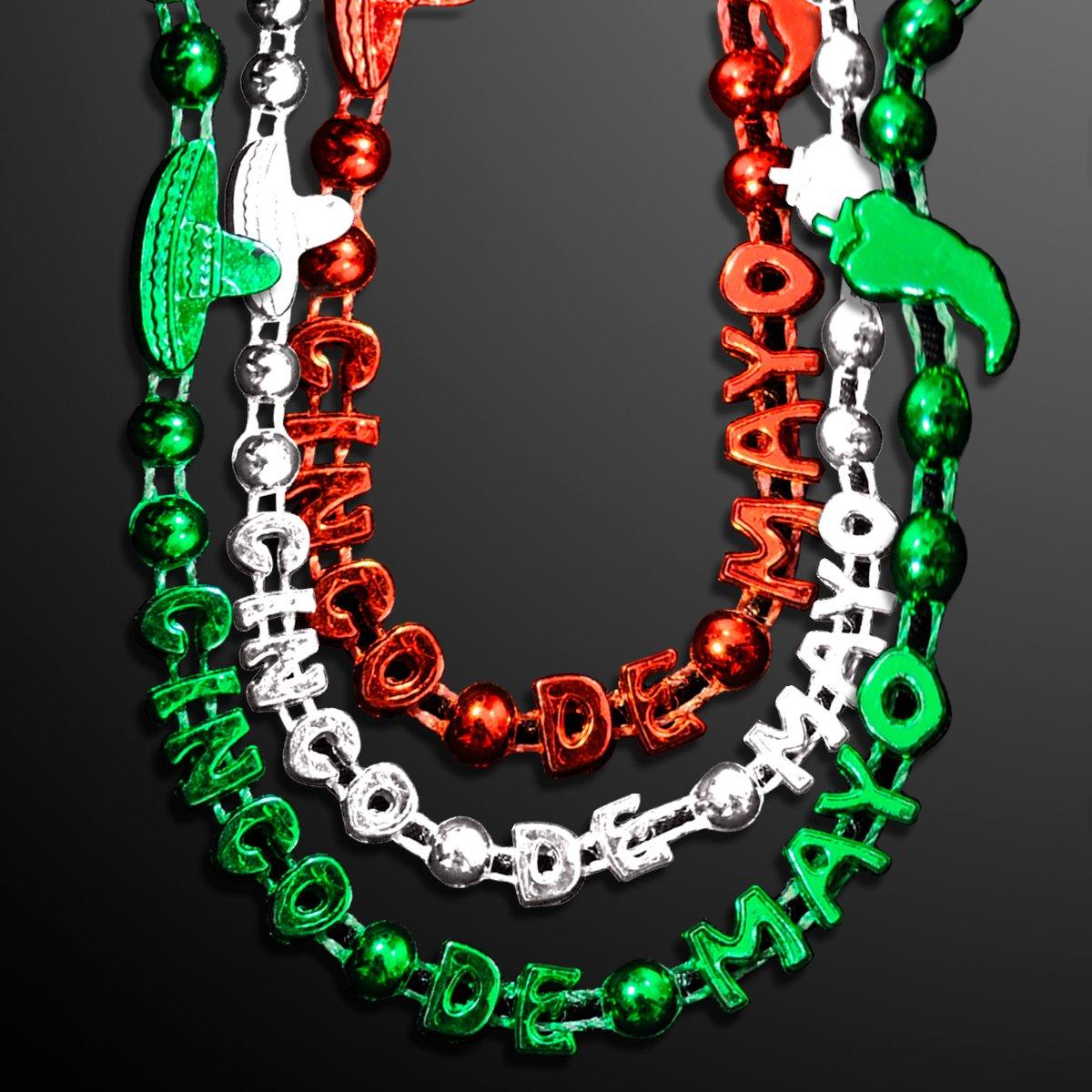 FlashingBlinkyLights Cinco de Mayo Party Bead Necklaces (Set of 72)
