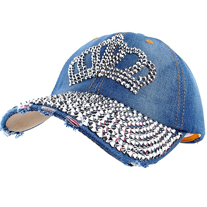 2db9ed68558 Image Unavailable. Image not available for. Color  Elonmo Bling Rhinestone  Hats ...