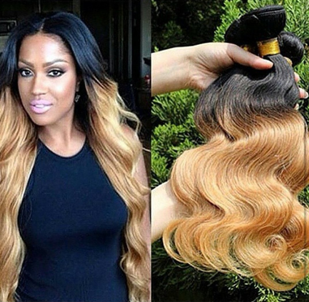 Amazon 3 Bundles 24x24x26 Honey Blonde Ombre 27 100