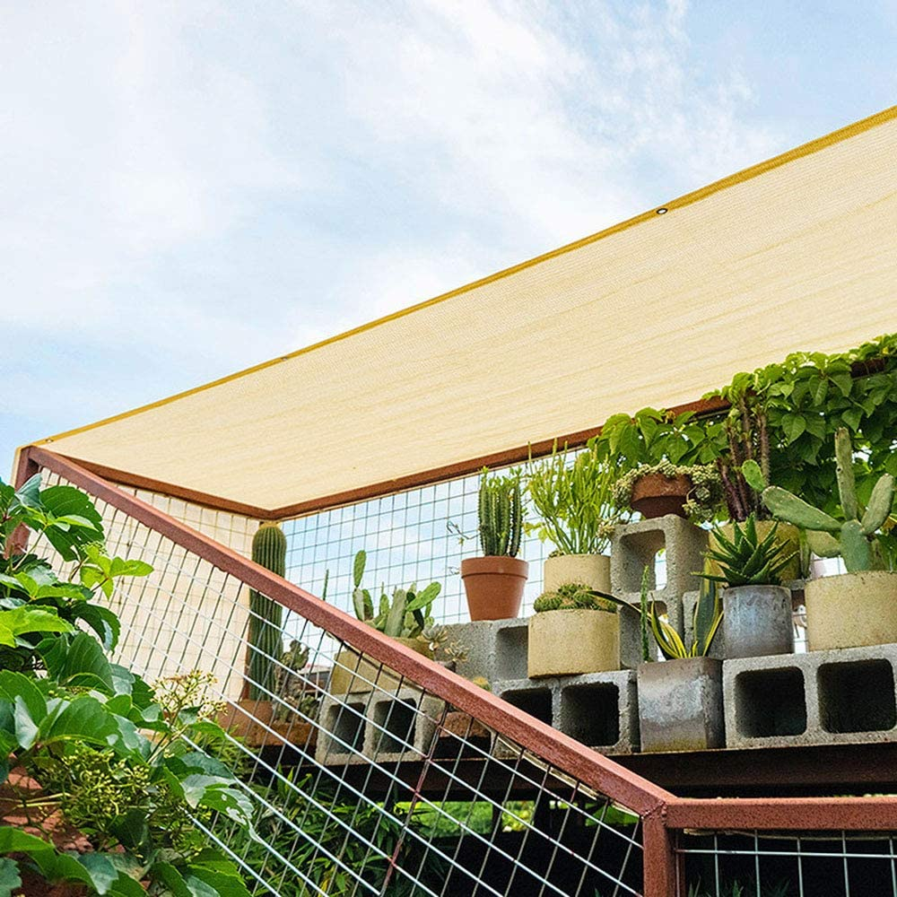 resistente al viento fiesta jard/ín balc/ón LMDX Toldo rectangular para el sol cuerda de 5 m red de sombreado gris bloque 95 /% UV exterior
