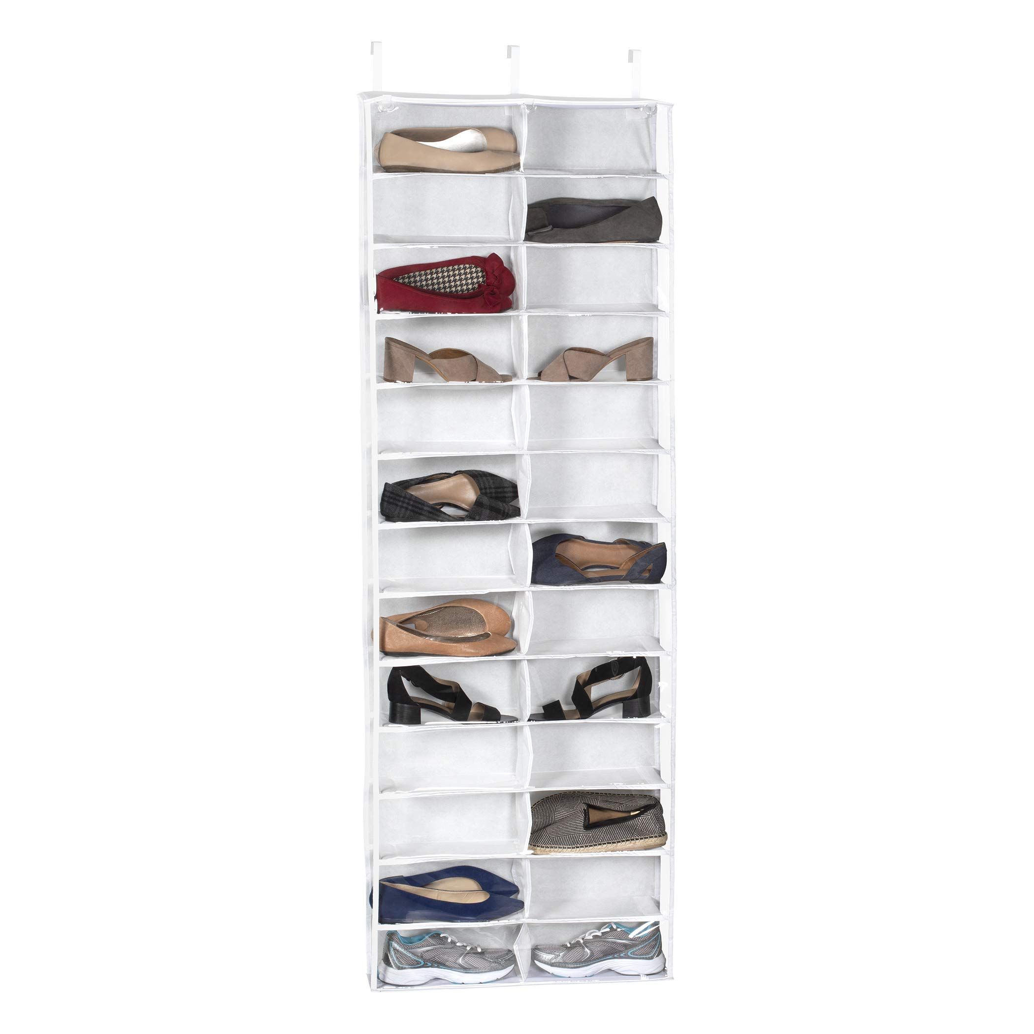 Richards Homewares Clearly Clear Purse 25526 Vinyl 26 Pocket Over The Door Shoe Organizer by Richards Homewares