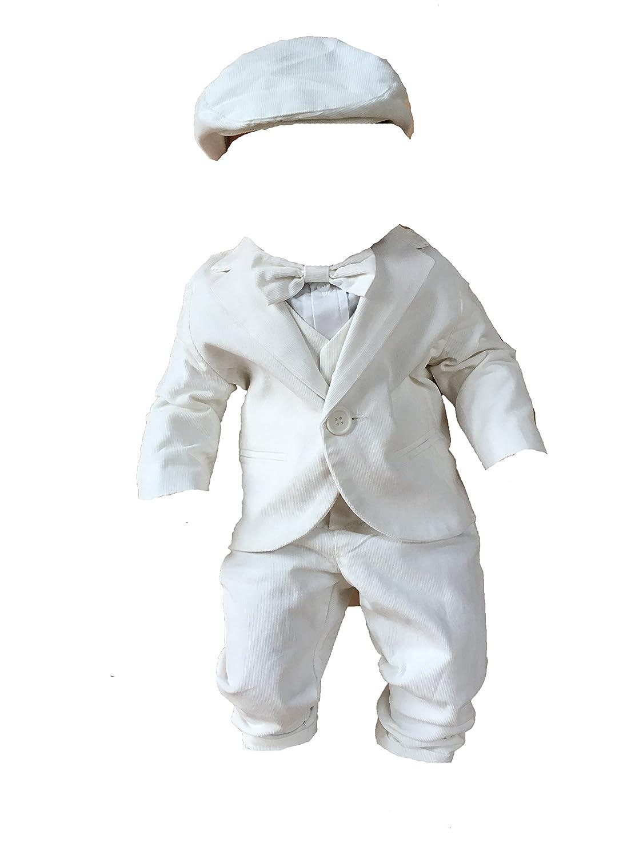Taufanzug Festanzug weiß Hochzeit Anzug 6 Teilig Set