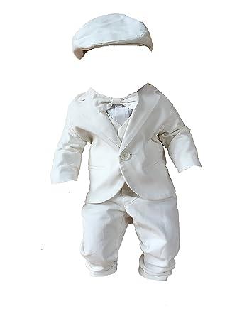 SixforKids - Costume de baptême - Bébé (garçon) 0 à 24 Mois Blanc Weiß cf6e3770938