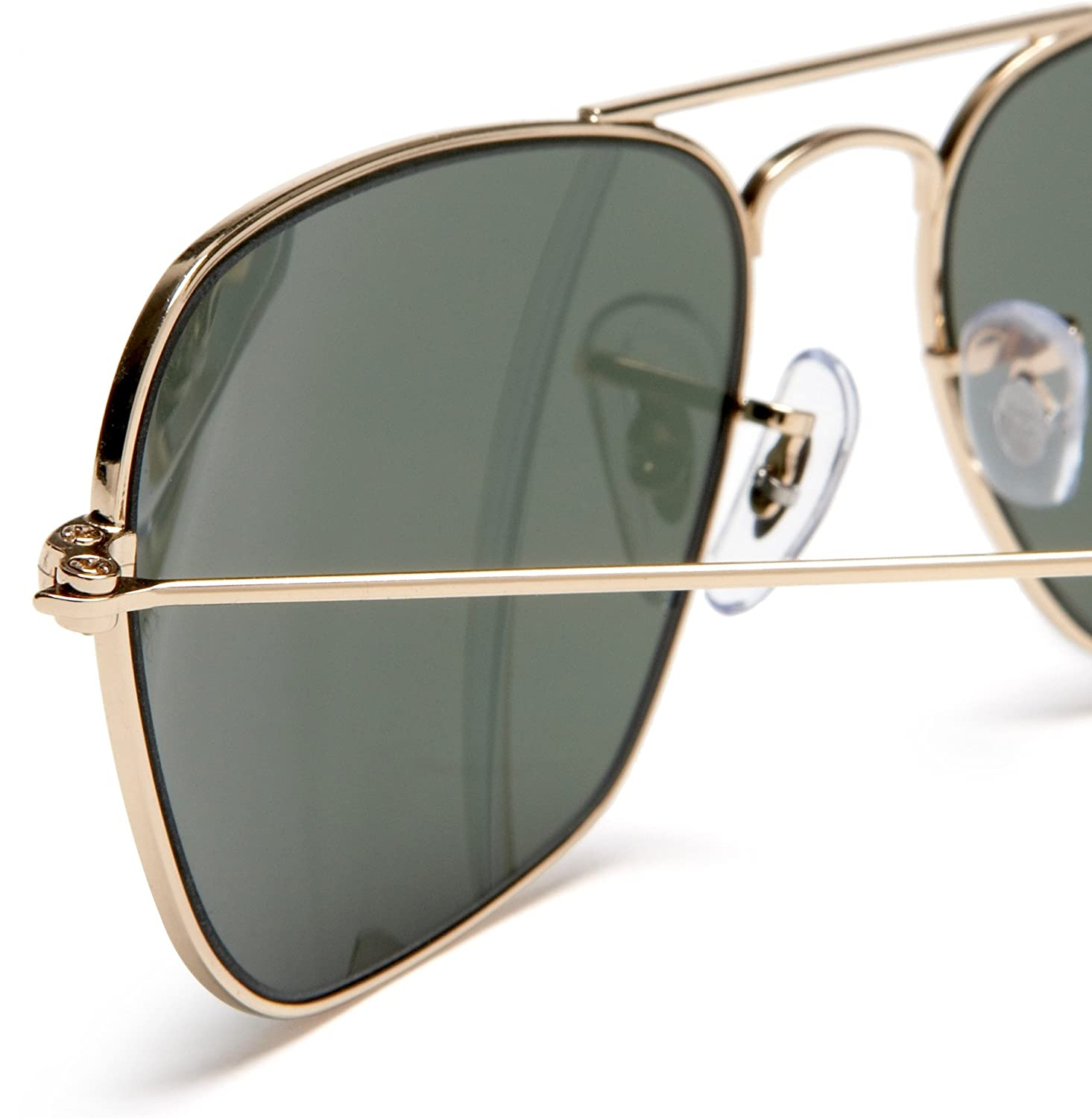 Amazon.com: Ray-Ban CARAVAN - ARISTA Frame CRYSTAL GREEN Lenses 58mm Non-Polarized: Ray-Ban: Clothing