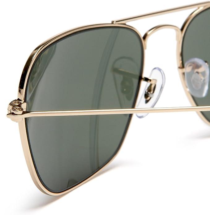 Amazon.com: Ray-Ban CARAVAN - ARISTA Frame CRYSTAL GREEN Lenses 58mm Non-Polarized: Ray-Ban: Clothing