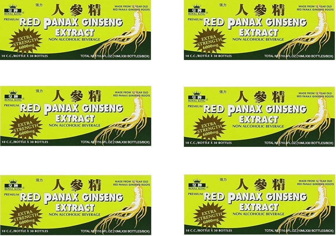 Royal King Red Panax Ginseng 30 10 6000mg 6 Boxes