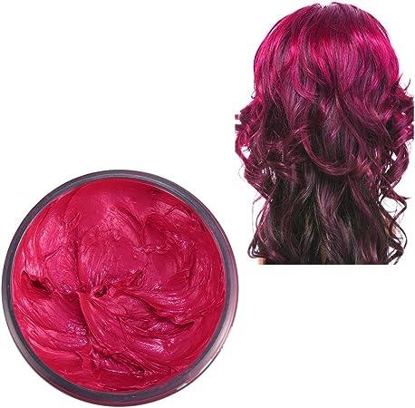 niceEshop(TM) Tintes para El Cabello,Coloración Temporal del Cabello, Cera Temporal Colorante Unisex para El Cabello(Rojo)