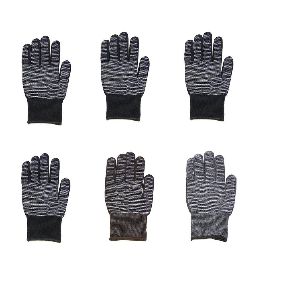 Unisex Magic Stretch Gripper Glove Gripper Glove - 6 Pairs Selection B